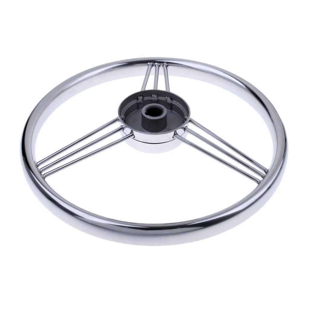 Osculati Volante Poliuretano 350 mm con Radio de Acero INOX