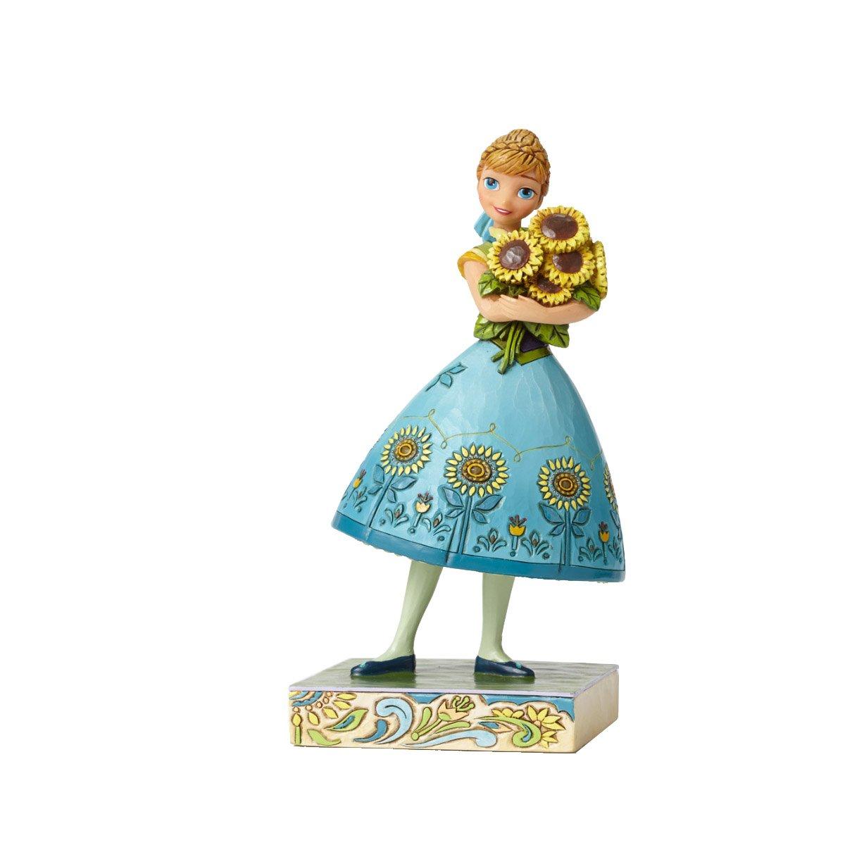 Enesco 4050882 Disney Traditions Frozen Fever Princess Anna Figurine Sunflowers