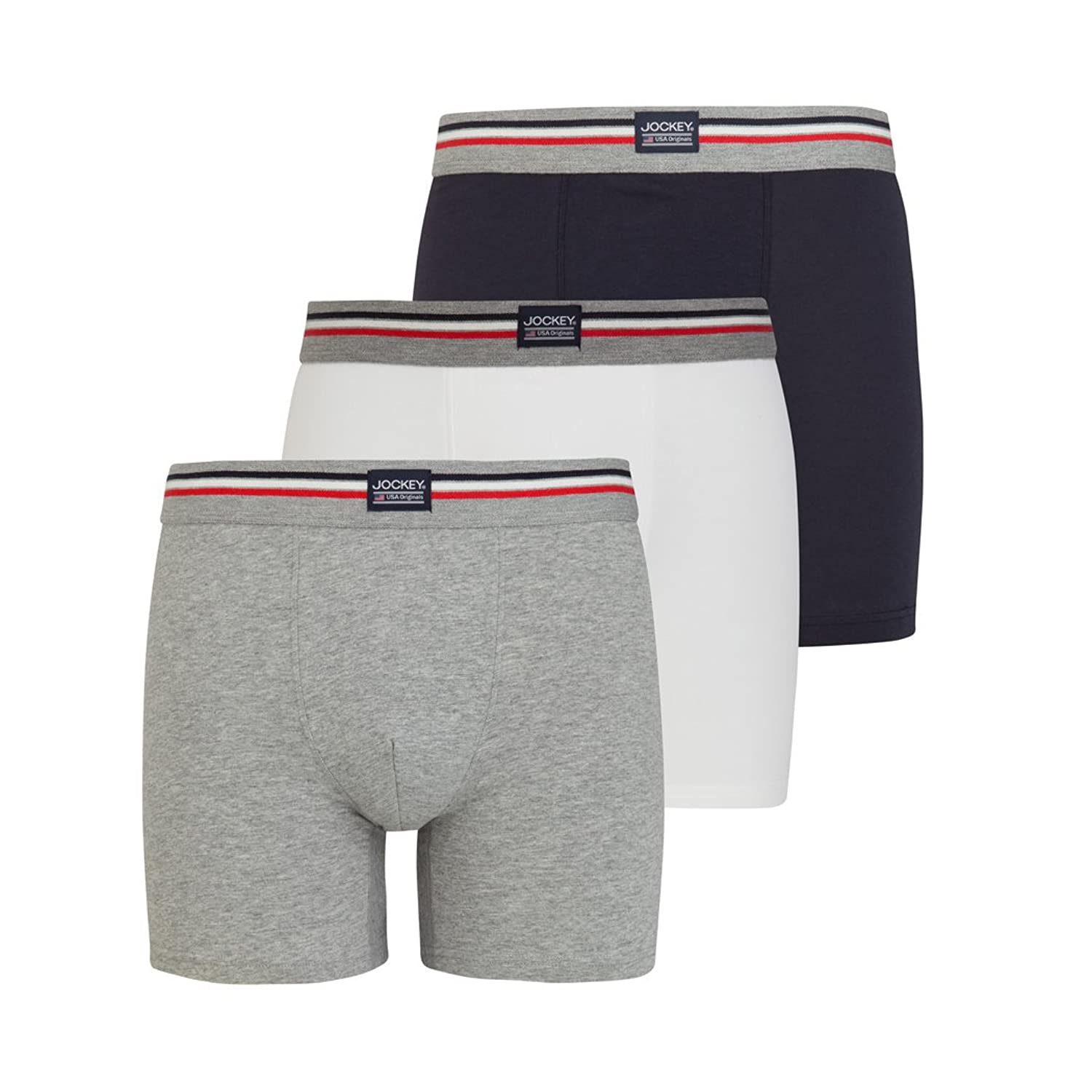 Jockey Trunk Six Pack - Markenunterhosen - black stripe und navy S bis 2 XL