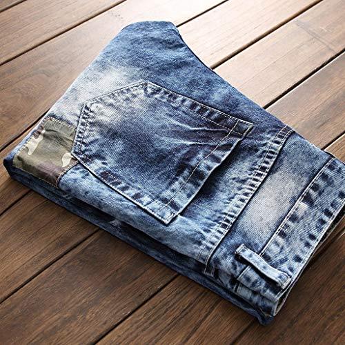 Homme Skinny Slim En Bleu Guesspower Déchiré fit Sport Cassé Trou De Moulante Denim Jeans fit Et Homme Original Pantalons UY5w8v5q