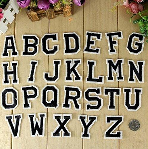 Chakil 26/PCS Tessuto di Lettere inglesaspegatinas in Tessuto paletilla in Tessuto Accessori di Toppa cerotti Vestiti Cute DIY Vestiti cerotti Sacchetti Accessori Applique,