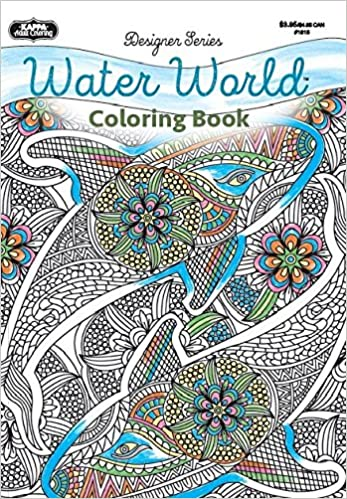 adult coloring designer series water world kappa books publishers 9781559931724 amazoncom books - Coloring Book Publishers