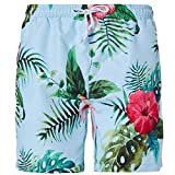 Swimsuits For Men Swimming Trunks Leaf Weed Beach Short Pants 3D Print Elastic Waist Swimwear L