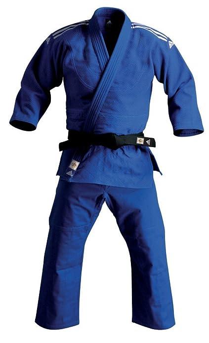 Adidas Jfit Judo Kimono Blu Adijfitb1780 Strisce Grigie T170 KTFl31Jc