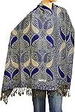 "Falari Women's Woven Pashmina Shawl Wrap Scarf 80"" X 27"" Blue Royal"