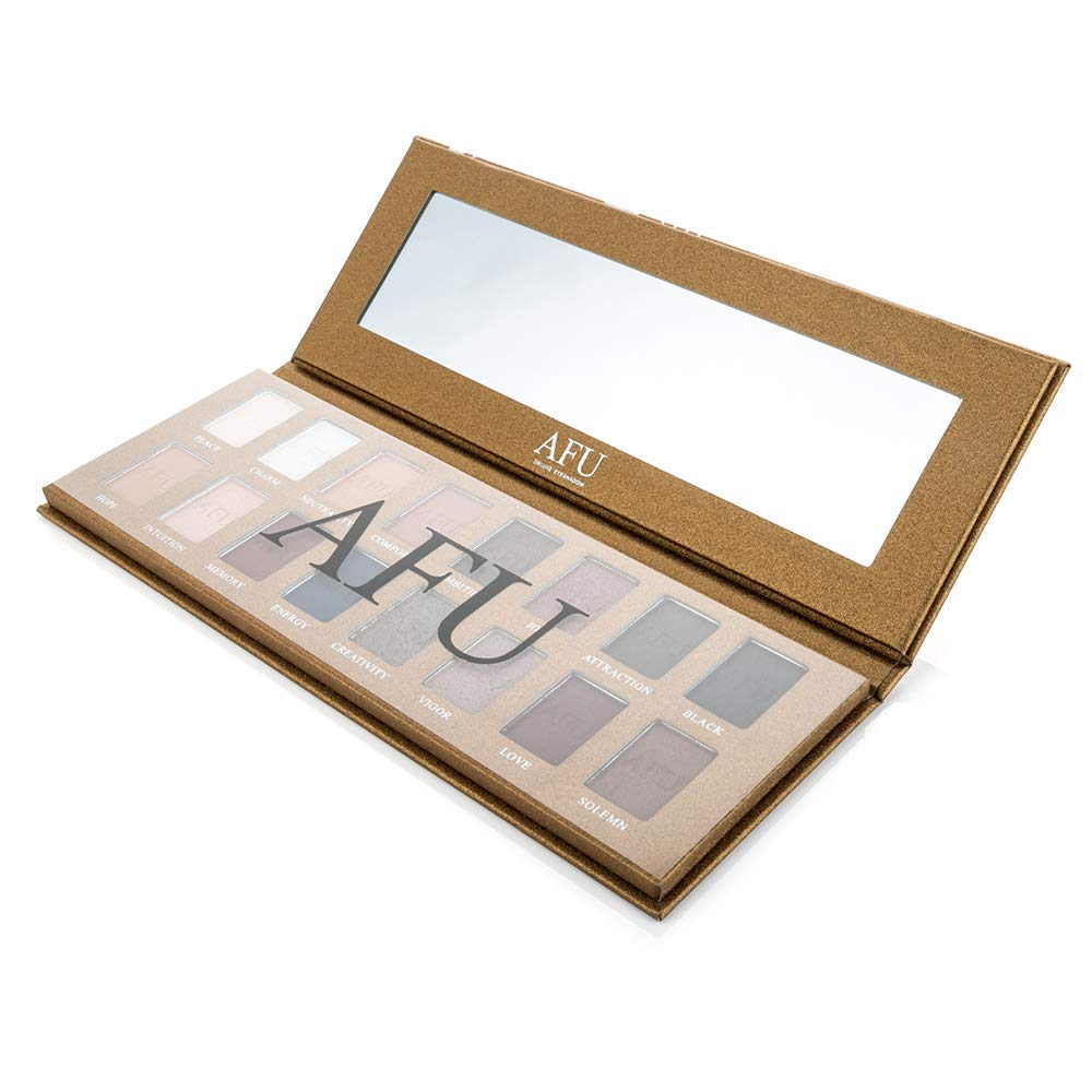 AFU High Pigmented Eyeshadow Palette Matte + Shimmer 16 Colors Makeup Natural Bronze Neutral Smokey Blendable Waterproof Eye Shadows Cosmetic - E-11 by AFU (Image #8)