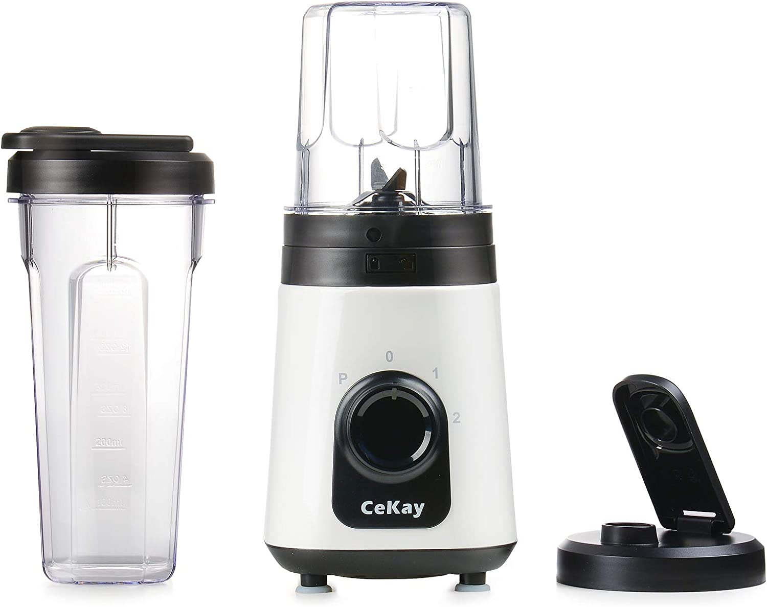 CeKay Personal Blender for Shakes, Smoothies, Food Prep, and Frozen Blending, with 10 oz & 20 oz BPA-Free Blender Cups