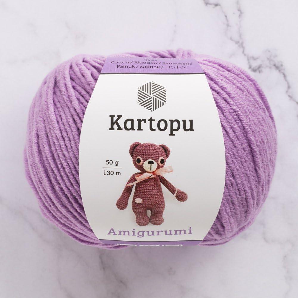 3 ovillos kartopua Amigurumi Total 5,28 oz cada 50 g / 142 yrds (130 m), 49% algodón, súper suave, Dk luz hilo de bebé: Amazon.es: Juguetes y juegos