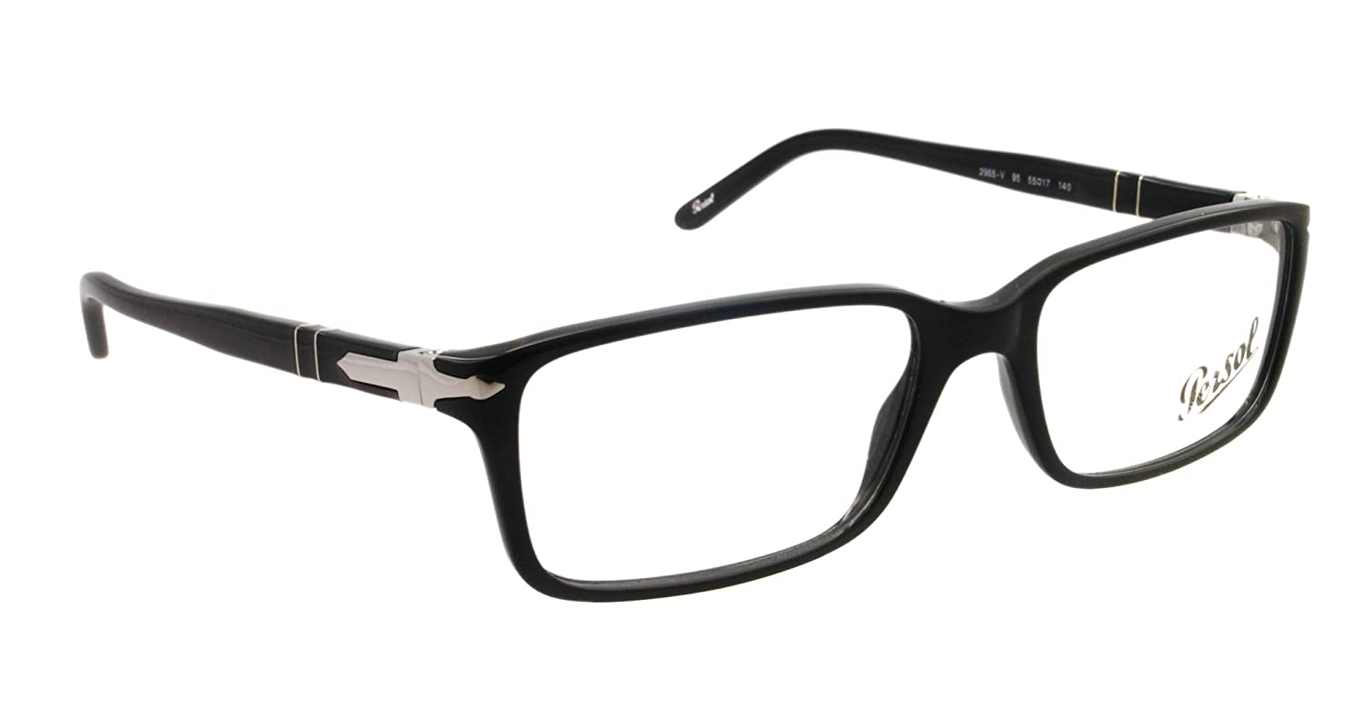 3738793a6c987 Persol Eyeglasses PO 2965 V BLACK 95 PO2965 V  Amazon.co.uk  Clothing