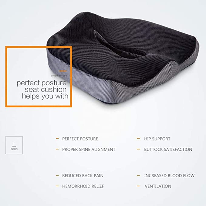 Amazon.com : Massage Coccyx Memory Foam Seat U Type Gel ...