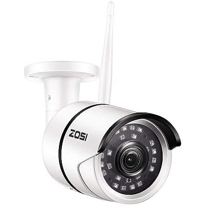 ZOSI Cámara de Vigilancia Inalámbrica, 1080P Full HD Cámara IP para Exteriores, 65ft Visión