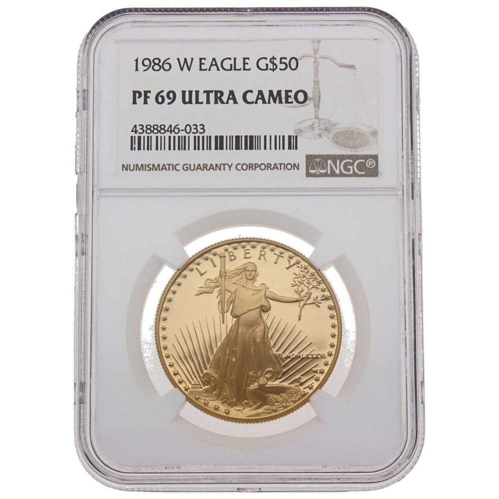 1 oz Goldmünze USA  American Eagle  1986 Polierte Platte NGC Certified MS-69