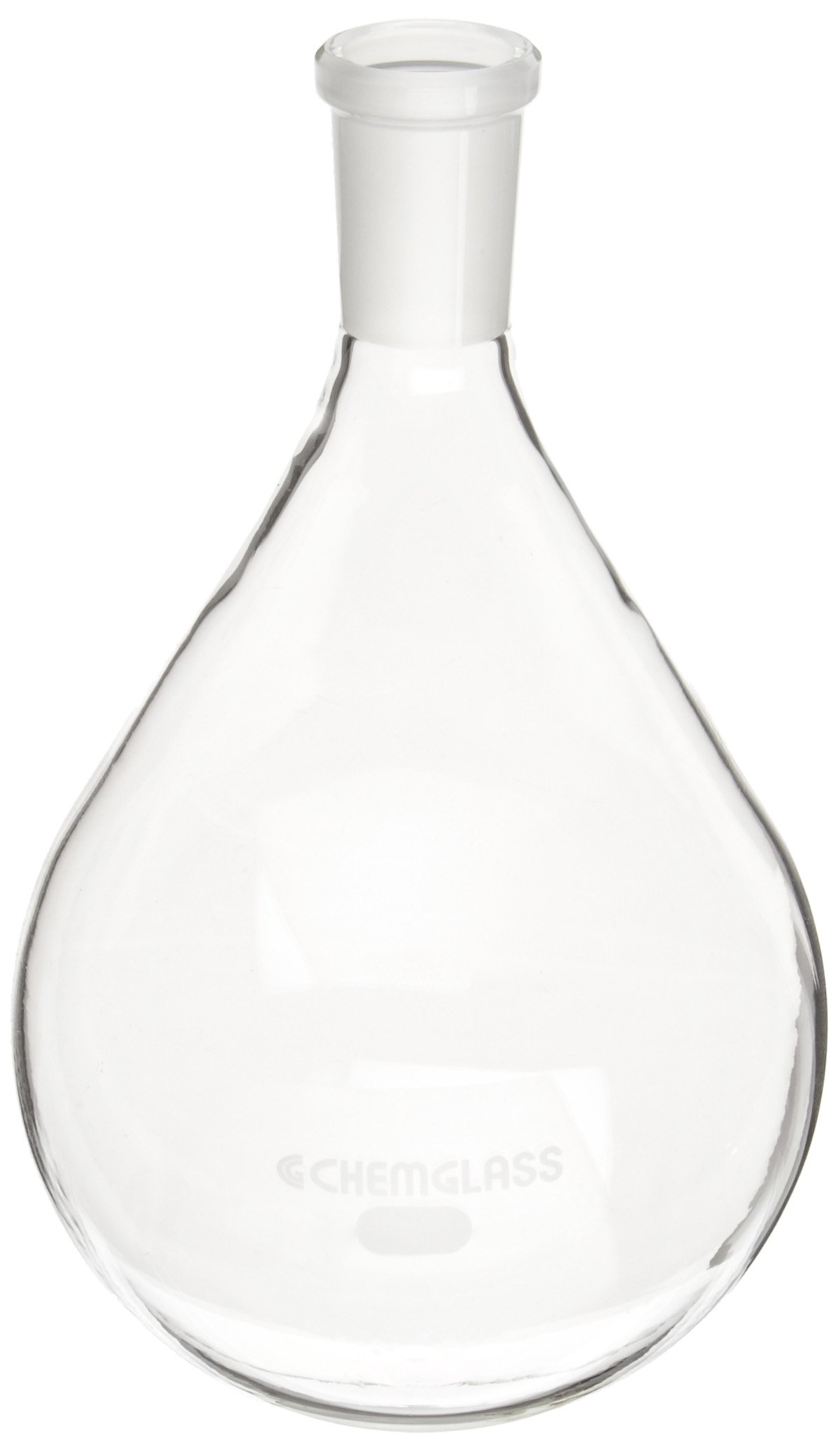 Chemglass CG-1512-09 Glass 1000mL Heavy Wall Single Neck Round Bottom Evaporating Flask, with 24/40 Outer Joint