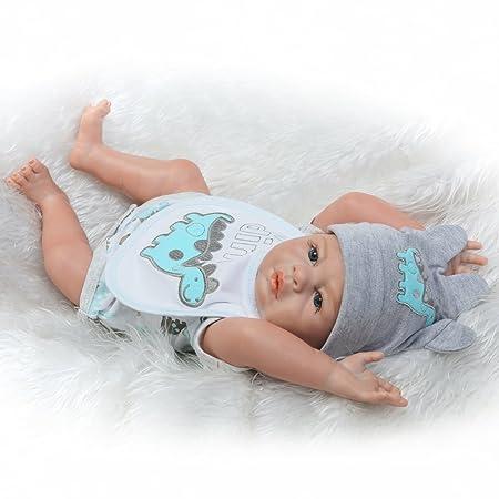 Amazon.es: Decdeal poupée Reborn bébé jouet de bain complète Corps en silicone Yeux ouverts avec vêtements: Juguetes y juegos