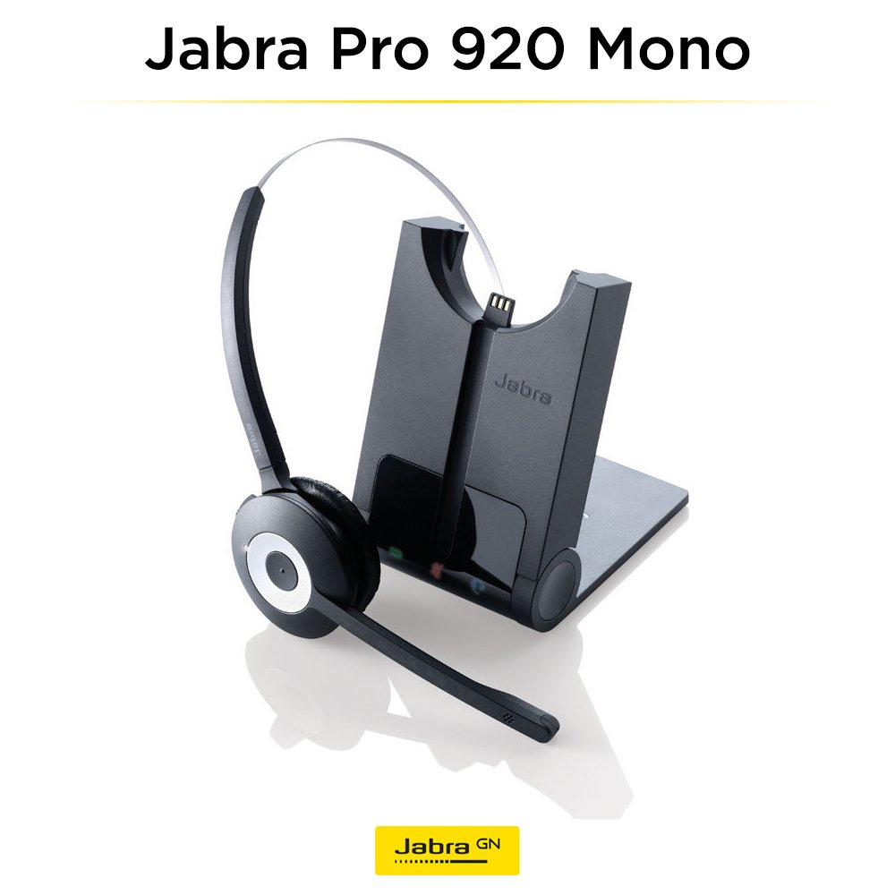 Amazon.com: Jabra PRO 920 Mono Entry Level Wireless Headset with 3-in-1  Wearing Styles: Cell Phones & Accessories