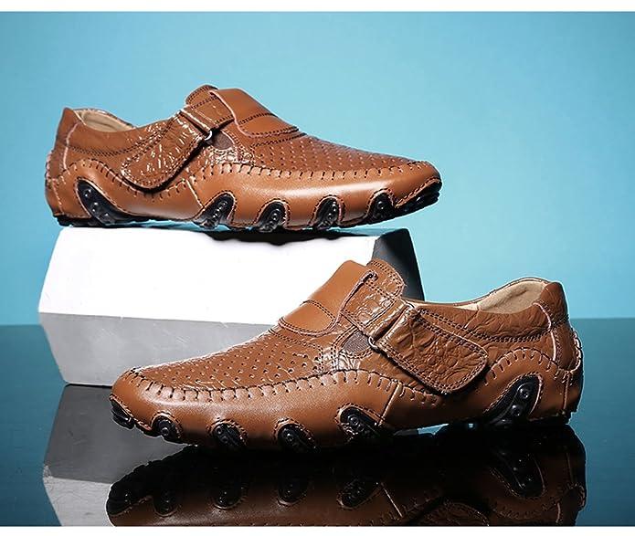 Mocasines para Hombre de Zapatos Mocasín Cuero Piel Casual Sandalias Cordones Náuticos: Amazon.es: Zapatos y complementos