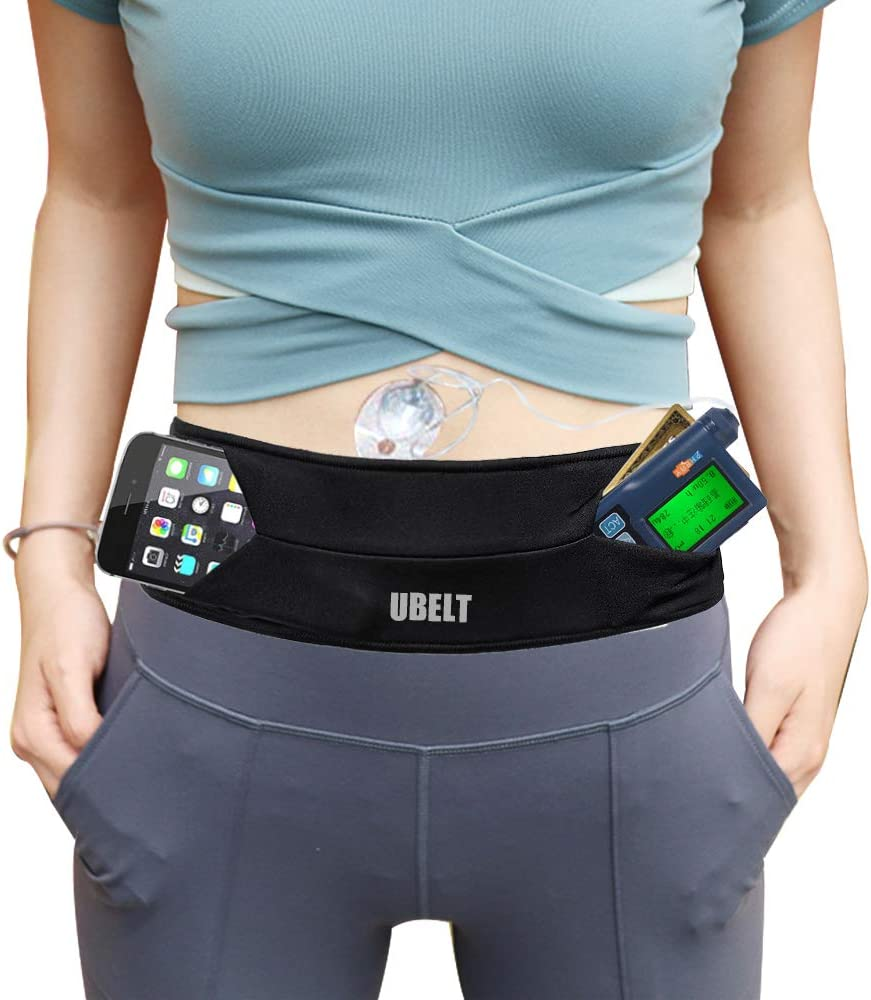 UBELT Insulin Pump Belt Pouch Diabetic Waist Fanny Pack Case Clip Accessories Running Band iPhone Plus Phone Holder Men Women