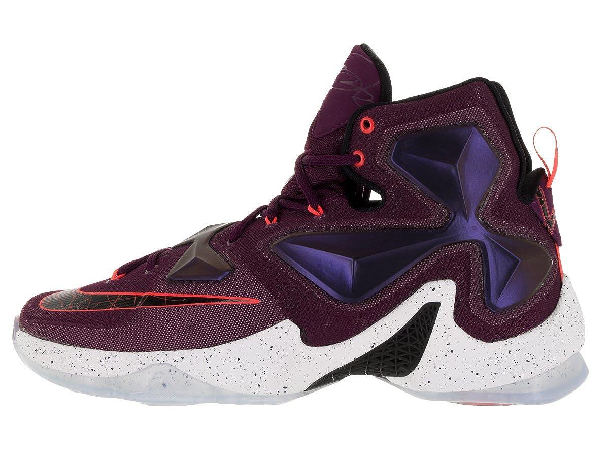 half off 121ef 06fe9 Nike Men's Lebron XIII Mulberry/Blk/Pr Pltnm/Vvd Prpl Basketball Shoe - 11  D(M) US