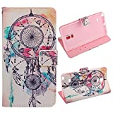 Tonsee For Samsung Galaxy Note 4 Dream Catcher Campanula Leather Cover Case