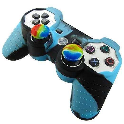 322 opinioni per Pandaren® Pelle cover skin per il PS3 controller(blu + nero) x 1 + pollice presa