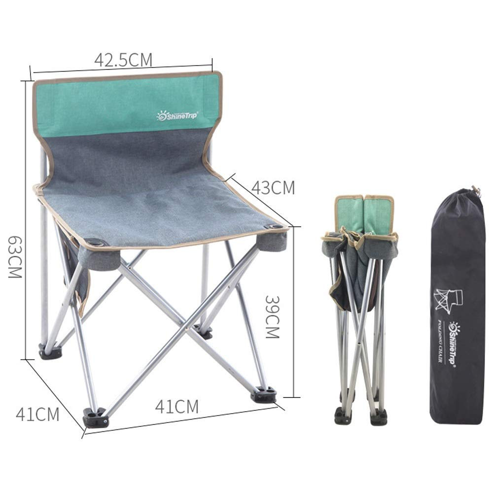 Folding Chair Portable Camping Beach Fishing Folding Chair Light Adult Outdoor Folding Chair (Color : Gray, Size : 414163cm)