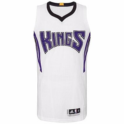 innovative design 226d6 8acf2 Amazon.com : adidas Sacramento Kings NBA White Authentic On ...