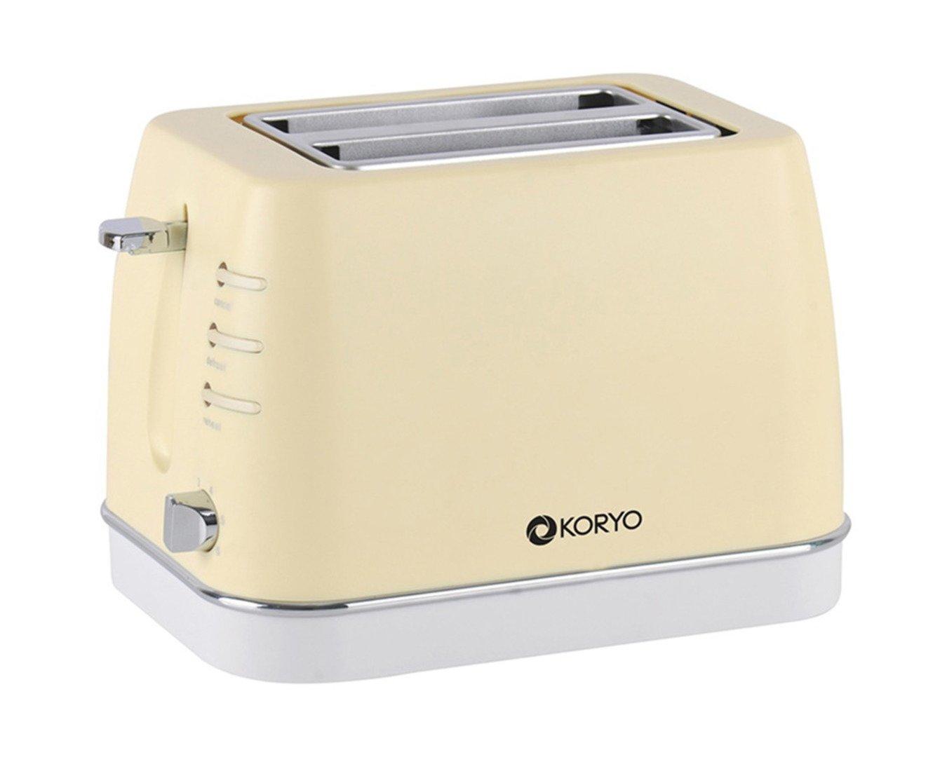 Koryo KPT1367BCY 2 Slice Pop up Toaster