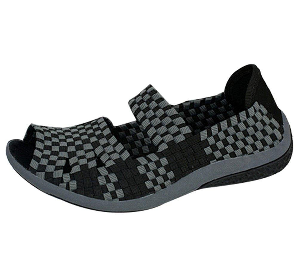 Anguang Femme Décontractée Poids léger Tisser Tisser Chaussures B01N1KALLS Noir Sandales Plage Chaussons Décontractée Chaussures Noir 74fbd44 - digitalweb.space