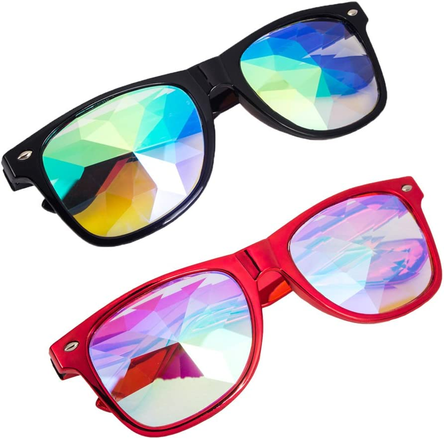 OMG/_Shop Kaleidoscope Glasses Festival Cosplay Rainbow Prism Sunglasses Goggles