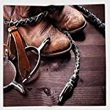 Cotton Microfiber Hand Towel,Western Decor,Authentic Old Leather Boots and Spurs Rustic Rodeo Equipment USA Style Art Picture,Brown,for Kids, Teens, and Adults,One Side Printing