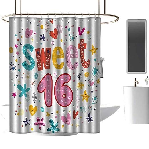 Cortinas de Ducha para niñas con Rosa para cumpleaños 16 ...