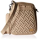 Lug Women's Flapper Cross Body Bag, Brushed Gold, One Size