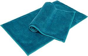 "Soft Plush Bathroom Rug Bath Mat,Non-Slip Microfiber Fluffy Shaggy Water Absorbent Bath Rug Carpet,Machine Washable Ocean Blue 3220"""