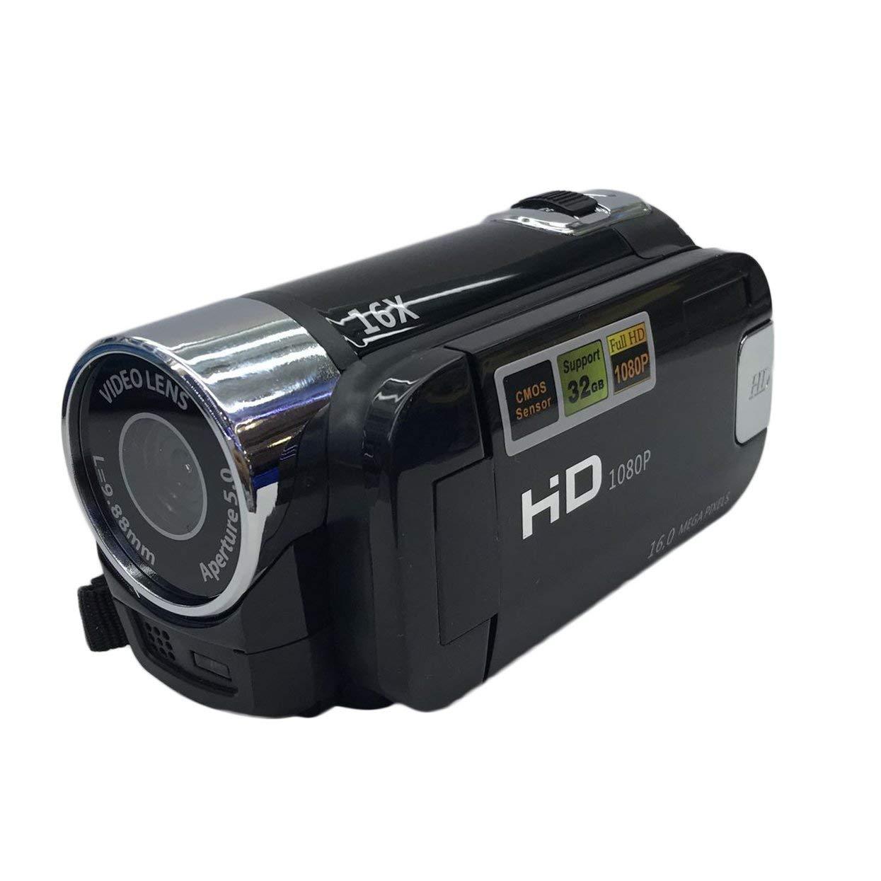 Cámara de Video Digital HD-100 Full HD 1080P Pantalla TFT de 2.7 Pulgadas Pantalla portátil de 16.0 megapíxeles Mini DV para Uso en el hogar