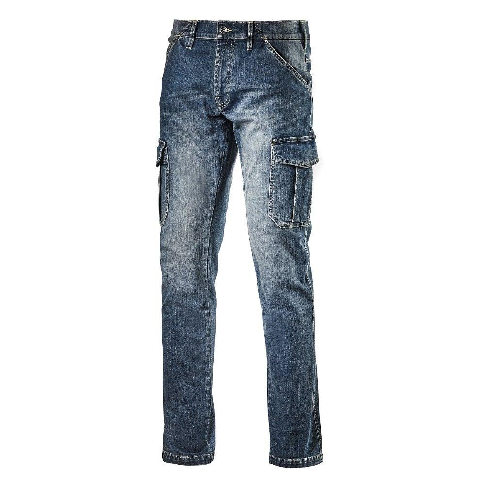 Diadora Pantalone da Lavoro Multitasche Jeans Taglia 48 172115 Cargo Denim 702.172115