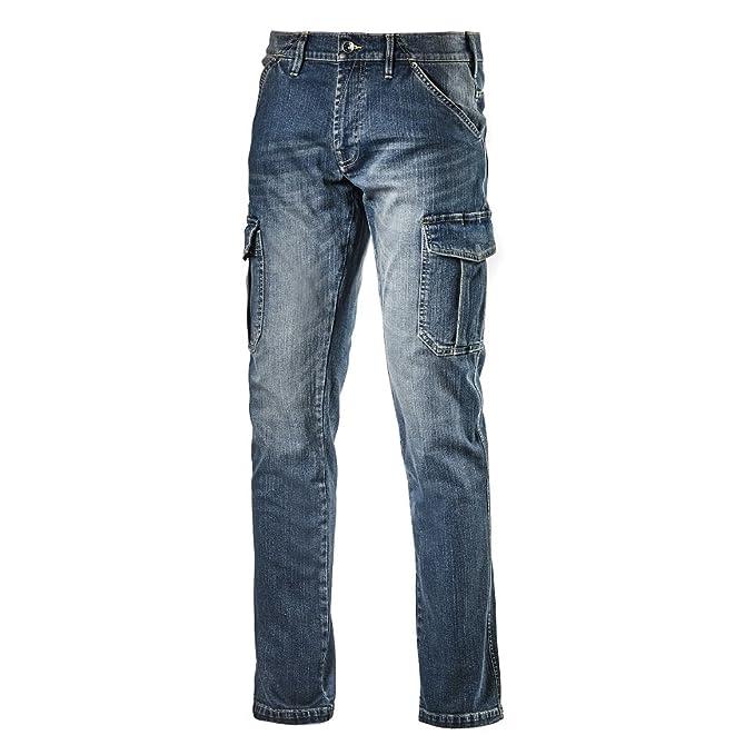 0398e9523b0fc5 Diadora Pantalone da Lavoro Multitasche Jeans Taglia 46 172115 Cargo Denim:  Amazon.it: Abbigliamento