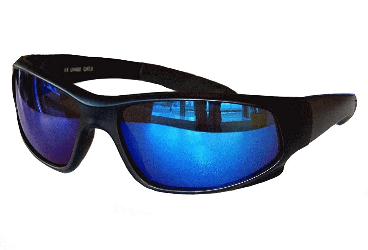 Sportbrille Radbrille Sonnenbrille Black Schwarz verspiegelt Sportlich M 31