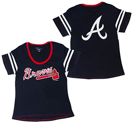 bd4644c91 Amazon.com   5th   Ocean Atlanta Braves Women s Baby Jersey S S ...