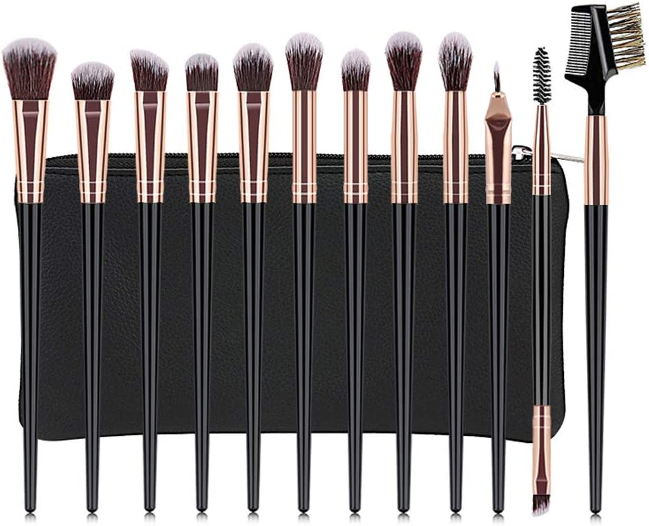 Cocoty-store 2019 2Essentials Brochas de Maquillaje Set 12 Unids Púrpura Color Profesional Base de Cara Sombra de Ojos Delineador de ojos Resaltador Kits de pinceles de maquillaje(Negro): Amazon.es: Belleza