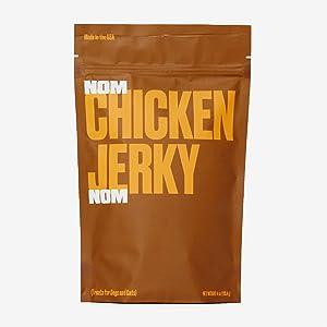 Nom Nom Dog & Cat Jerky Treats - 4 oz - Non GMO - High Protein - Human Grade - 100% USDA Certified - Made in USA (Chicken)