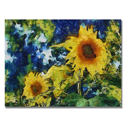 Sunflowers by Michelle Calkins, 18x24-Inch Canvas Wall Art