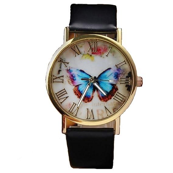 Xinantime Relojes Pulsera Mujer,Xinan Mariposa Banda Cuero Relojs de Cuarzo Analógico (Marrón): Amazon.es: Deportes y aire libre