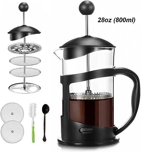 Covos French Press Coffee Maker 28oz 3.5cups 800ml Coffee Tea Maker