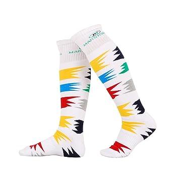 bwiv Unisex alto rendimiento acolchado calcetines de esquí patinaje ciclismo invierno de acampada y protección, Unisex, color blanco, tamaño L: Amazon.es: ...