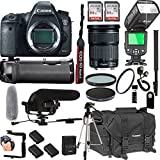 Canon EOS 6D Mark II With 24-105mm F/3.5-5.6 IS STM Lens + 128GB Memory + Canon Deluxe Camera Bag + Pro Battery Bundle + Power Grip + Microphone + TTL Speed Light + Pro Filters,(23pc Bundle)