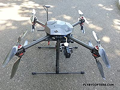 Surveying / Aerial Mapping X8 Quadcopter Drone With RTK Multi GNSS GPS by FlyByCopters
