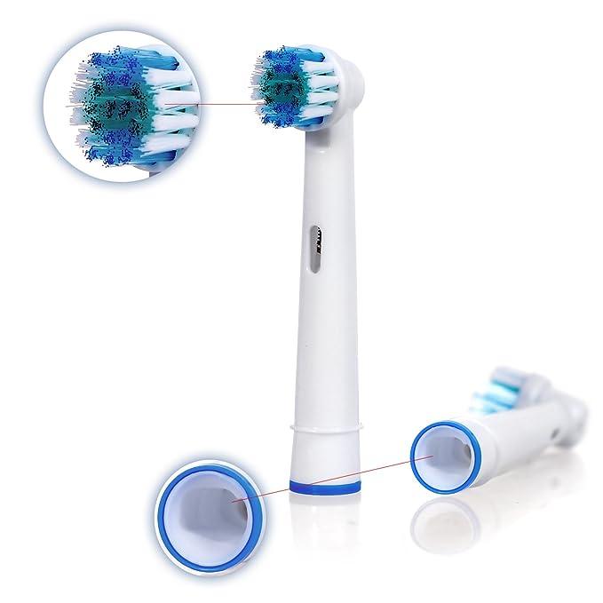 E-Cron Flexisoft - Oral B Precision Clean/Flexisoft (EB17-4) recambios. 8 uds (2x4) de cabezales para cepillos de dientes, color blanco: Amazon.es: Salud y ...