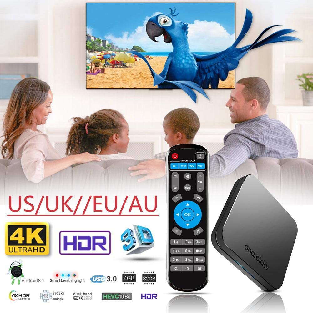 KM9 Android 8.1 TV BOX S905X2 Network Bluetooth Edition Set Top Box 4+32G 4K WIFI by Oshide (Image #3)