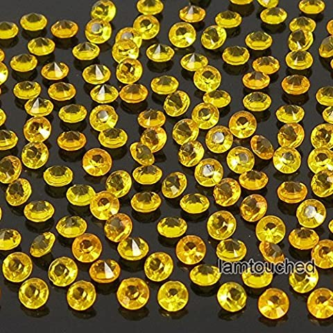 2,000 pcs 4.5mm Diamond Table Confetti Acrylic Wedding Party Decor Crystals Vase Filler Gold Orange - Nba Jazz Lamp