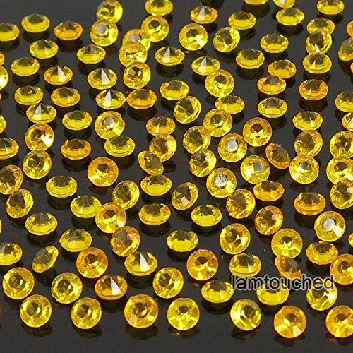 Euro Co Costumes (2,000 pcs 4.5mm Diamond Table Confetti Acrylic Wedding Party Decor Crystals Vase Filler Gold Orange)